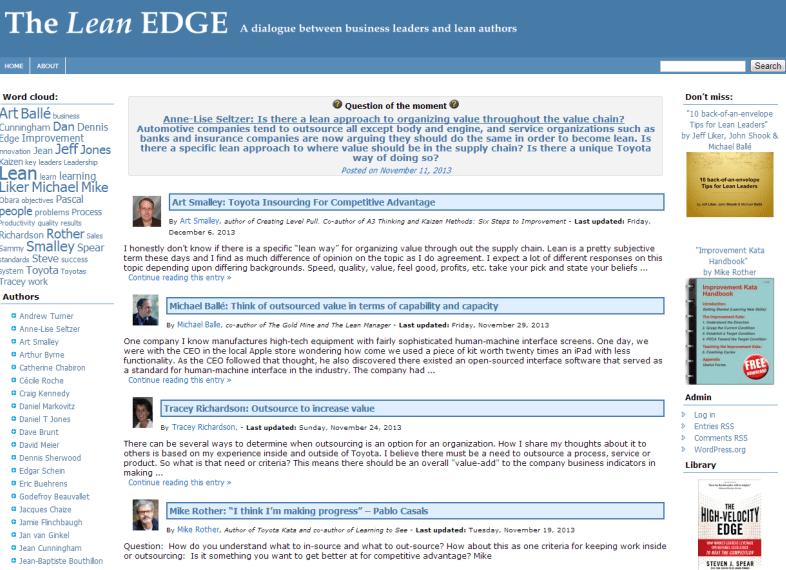Lean Edge home page