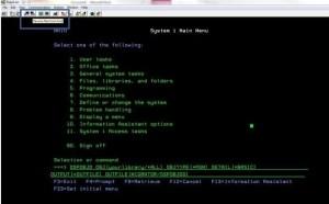 AS400 CLI screenshot