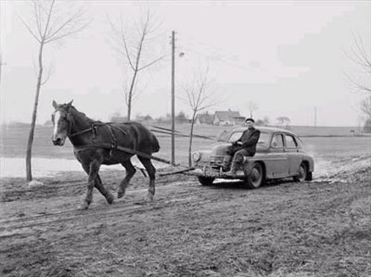 Not-so-horseless carriage