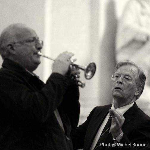 Eric Aubier dirigé par le chef d'orchestre Bernard Thomas, ou l'inverse...