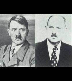 La ressemblance est frappante entre le Führer et Jean-Marie Loret...son fils?