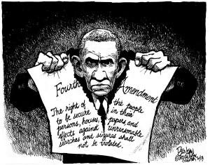 Violation du quatrième amendement par Obama.