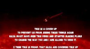 We face to a cover up from NASA.