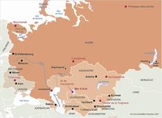 La carte  des dangers grandissants du à la pollution environnementale en Russie et en Asie Centrale:un véritable baril de poudre.