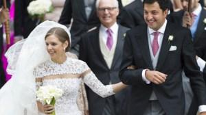 Les nouveaux mariés, Jacqueline-Ariadne Desmarais et le prince belge Hadrien de Croÿ-Roeulx
