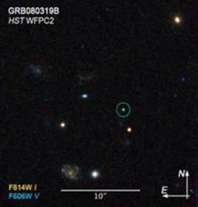 GRB vu par Hubble