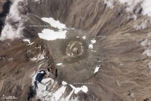 Le sommet actuel,vu de l'espace.