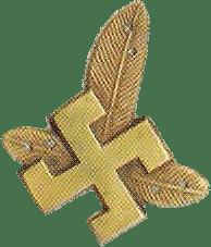 Insigne de la casquette des 6 régiments des chasseurs de montagne polonais.