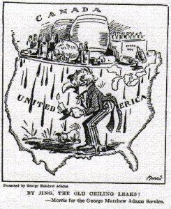 Cariture de l'époque sur la prohibition