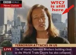 Comment expliquer qu'une  journaliste annonce l'événement à Londres avant l'effondrement de la Tour 7?