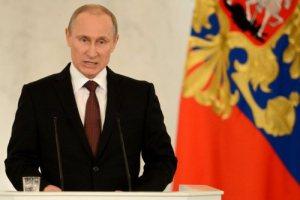 Vladimir Poutine, aujourd'hui, au Kremlin.
