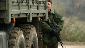 Soldat russe en Crimée
