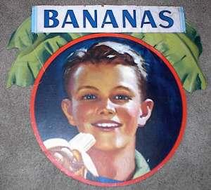 Ancienne affiche de la United Fruit Company.