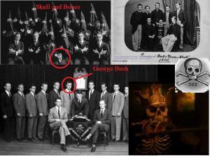 La secte satanique illuminati de Skulls & Bones. Vous avez surement reconnu George Walter Bush,de triste mémoire.