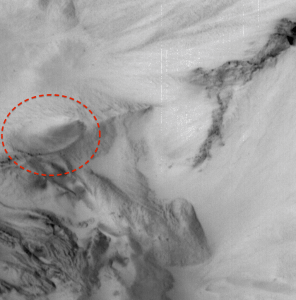Alien spaceship on Mars