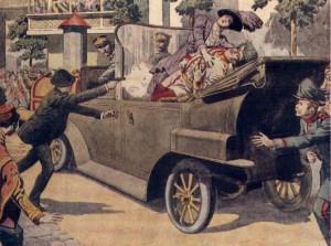 L'assassinat de l'archiduc François Ferdinand d'Autriche-Hongrie sera l'étincelle qui enflammera l'Europe et le Monde.