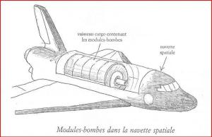 Les modules de bombes dans la navette spatiale...une partie de la théorie.