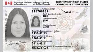 Certificat de statut d'indien...au Canada. Il y a  plusieurs sortes de citoyens,des lois différentes entre les sortes d'individus...et une justice inopérante déconnectée du réel.