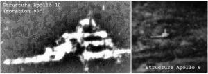 Cité extraterrestre photographiée par les missions Apollo 8 et 10.