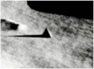 Pyramide lunaire photographiée par Hubble.