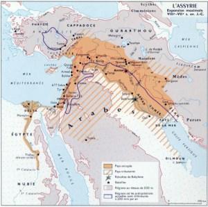 L'empire assyrien.