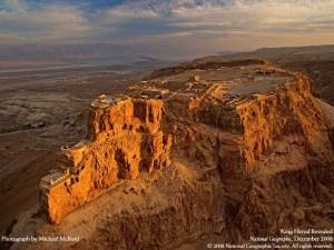 La citadelle de Massada.