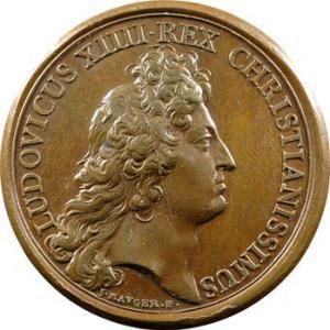 Médaille à l'effigie du roi.