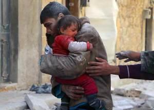 Cet adolescent syrien a risqué sa vie pour sauver sa petite sœur dans les décombres de leur maison,après une attaque d'un groupe terroriste.