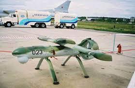 Un drone militaire russe au sol.