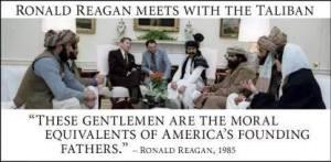 En 1985 Ronald Reagan à reçu à la maison blanche les Talibans pour une alliance et faire tomber les Russes en Afghanistan. L'histoire ce répète avec la pseudo rébellion modéré en Syrie, sauf que cette fois ci, c'est pour faire tomber le gouvernement Syrien!