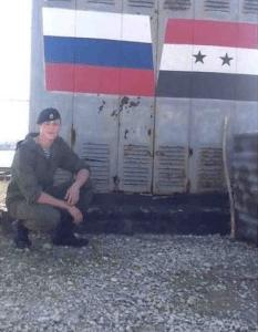 Un soldat russe  récemment  arrivé en Syrie.