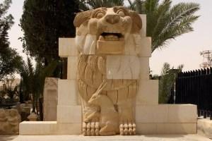 Cette statue d'un dieu-lion vieille de 1900 ans aurait été détruite ou...vendue.