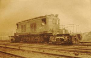 1918-une des premières locomotives électriques.