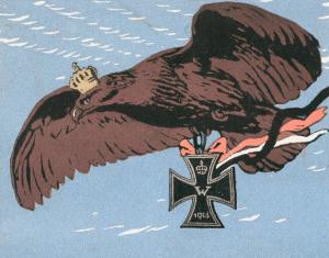 Carte postale allemande aigle impérial victorieux