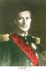 arte postale belge portrait du roi Albert I
