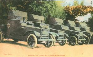 Carte postale  française  Autos  mitrailleuses