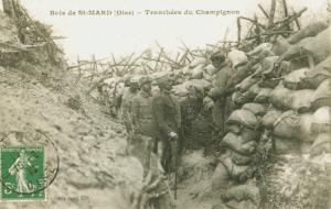 Carte postale  française tranchée du Champignon