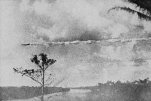 Le 19 juillet 1952,on prit cette photo  d'un cigare volant au-dessus de puerto Maldonaldo au Pérou.