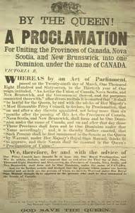 La proclamation royale de 1867...rien  n'a été fait de façon démocratique,au Canada.