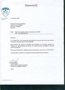 La plainte déposée en 2004