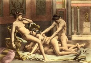 Ce dessin nous montre bien le fantasme maculin d'échanger avec une ou deux lesbiennes.