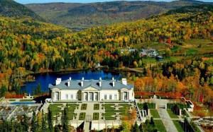 Le domaine des Desmarais,à Sagard au Québec.