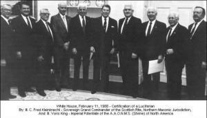 Ronald Reagan et ses amis illuminatis...et francs maçons.