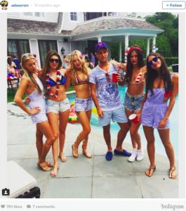Elle est connue pour faire partie des Rich Kids of Instagram, un groupe de jeunes filles et de jeunes hommes âgés d'à peine 20 ans qui immortalisent et mettent en ligne chaque instant de leur train de vie extravagant, bien évidemment entièrement financé par leurs parents.