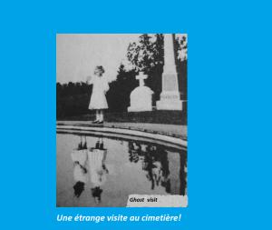 Au début des années 1900, cette photo a été prise près d'une tombe. Le visiteur mystérieux n'a  été découvert que des années plus tard!