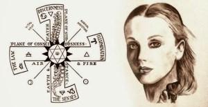 Maria Orsic et la Croix de Thulé Provenant d'archives,ce dessin nous donne des indices sur le pouvoir de la grande pr^tresse qui recevait des communication par la pensée.
