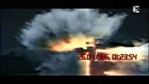 Une caméra de sécuritéavait capté ces images de l,explosion du réacteur No 4,le 28 avril 1986.