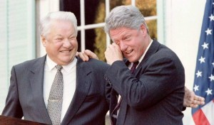 Boris Eltsine et Bill Clinton
