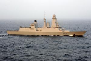 Frégate  française Forbin Le système sophistiqué de radar PAAM a fait de la frégate Forbin ,un sauveur efficace d'autres navires et de porte-avions.