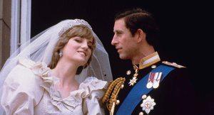 Diana et Charles lors de leur mariage.